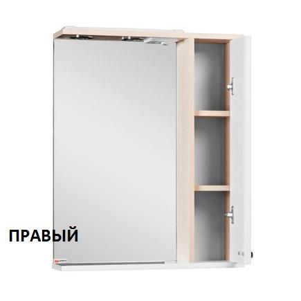 Шкаф-зеркало ДОМИНО Блик 55 светлый дуб с электрикой