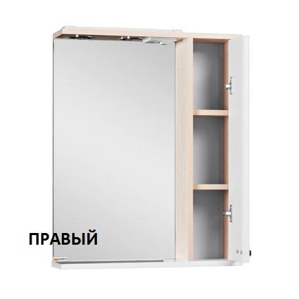 Шкаф-зеркало ДОМИНО Блик 60-светлый дуб с электрикой