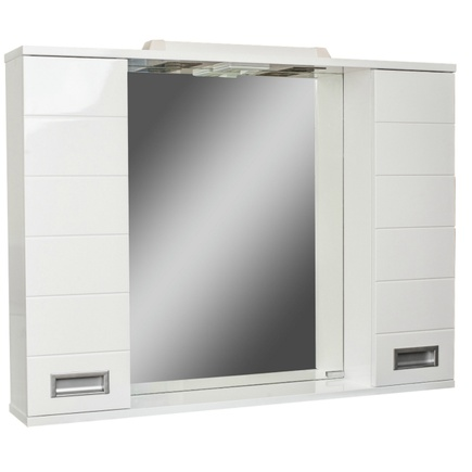 Шкаф-зеркало ДОМИНО CUBE 100 с подсветкой