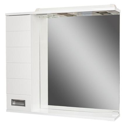 Шкаф-зеркало ДОМИНО CUBE 65 с подсветкой