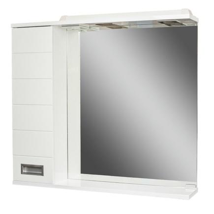 Шкаф-зеркало ДОМИНО CUBE 75 с электрикой