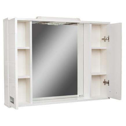 Шкаф-зеркало ДОМИНО CUBE 90 с подсветкой