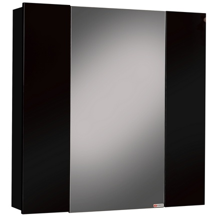 Шкаф-зеркало ДОМИНО Оскар 70 Нова L/R Черный левый/правый