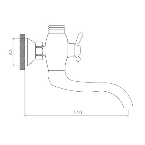 Смеситель для ванны А30 СЛАВЕН