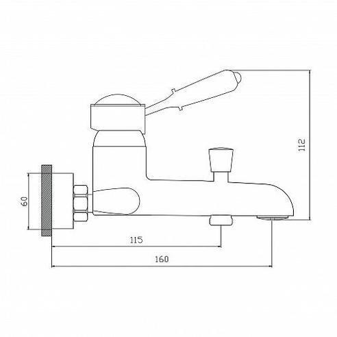 Смеситель для ванны М30 СЛАВЕН